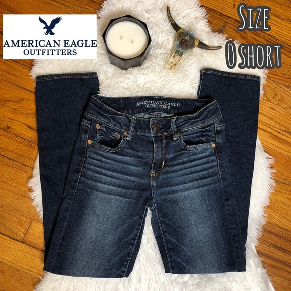 American Eagle Outfitters Denim - American Eagle straight leg denim blue jeans